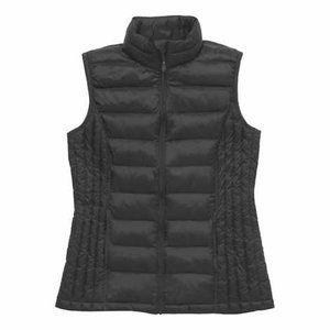 32 Degrees Women's Black Full Zip Vest Pockets